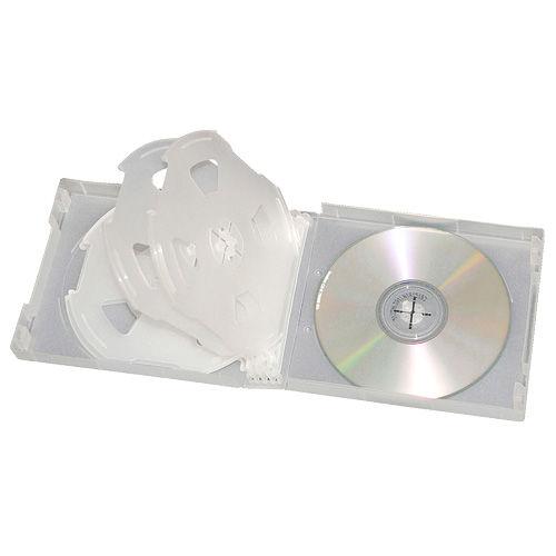 ソフトケース CD&DVD 10枚収納 クリア XC-499C