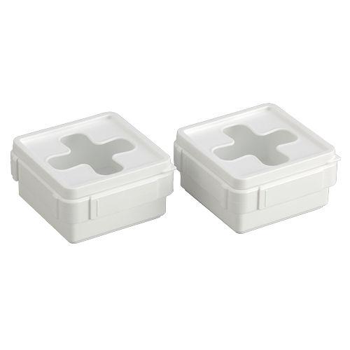 引出し収納ケース プルアウトボックス ミニサイズ ホワイト 2個セット 1280