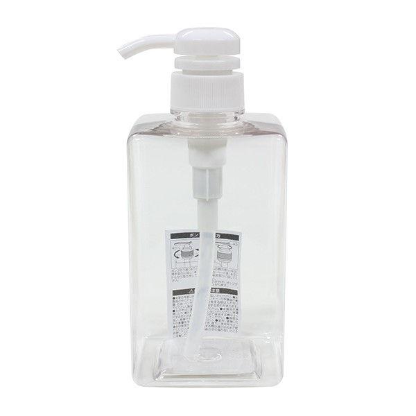エコー金属 ディスペンサー PETポンプボトル 角型 クリア 600ml 0299-277