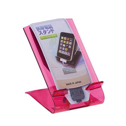 携帯電話スタンド ピンク 4589
