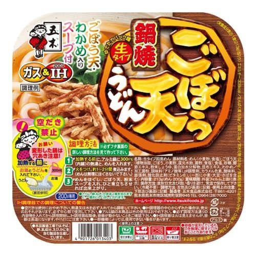 五木食品 鍋焼ごぼう天うどん 213g