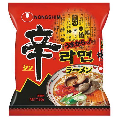 農心ジャパン 袋麺 辛ラーメン(袋) 120g