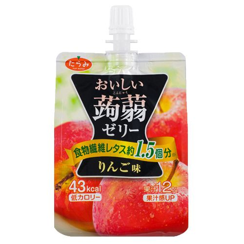 たらみ おいしい蒟蒻ゼリー りんご味 150g