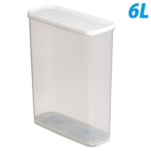 キャニスター 乾物ストッカー ホワイト 6.0L 1216-WH