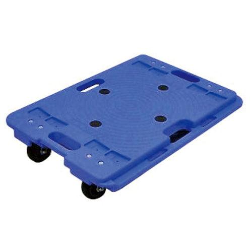 ナンシン 樹脂製連結平台車 150kg ブルー