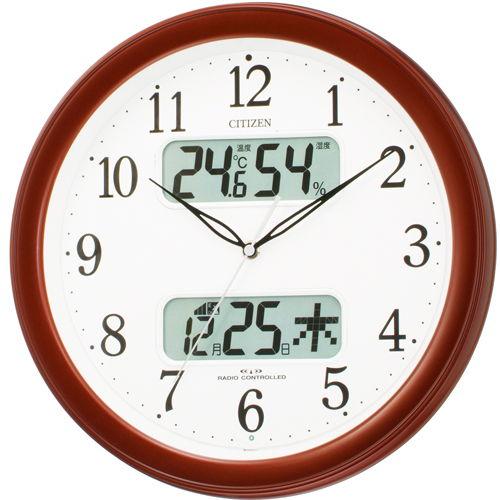 シチズン カレンダー付電波掛時計 ネムリーナカレンダー M01