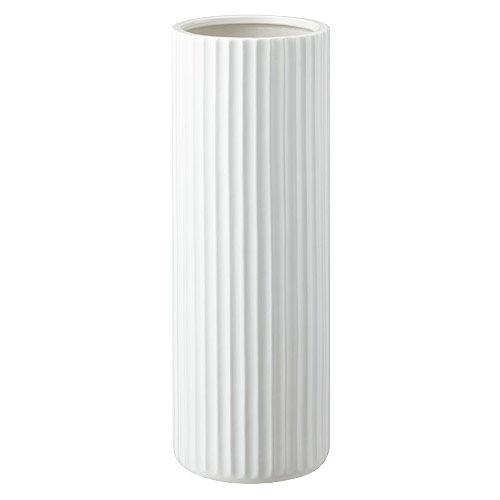 山崎実業 陶器傘立て スリム ストライプ ホワイト