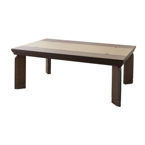 東谷 こたつテーブル フラットヒーター W120×D80×H39/44cm ブラウン カタリナ120BRN