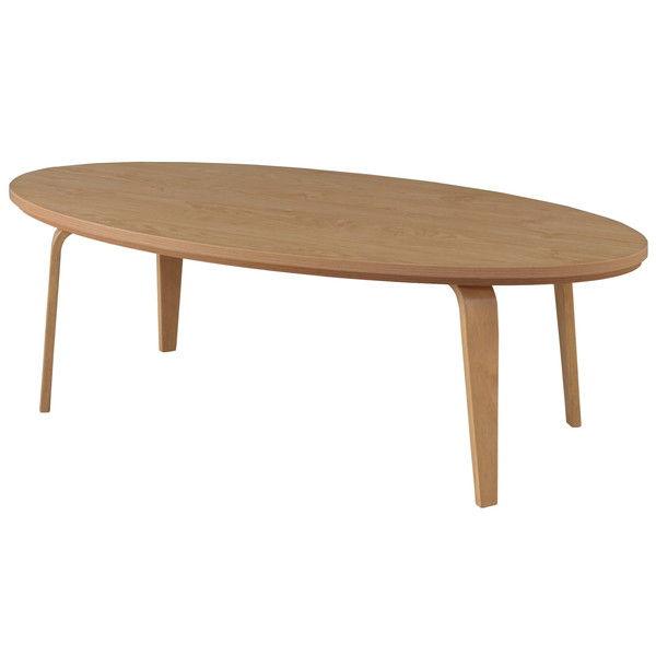 東谷 こたつテーブル オーバル W120×D60×H38cm ナチュラル KT-114NA