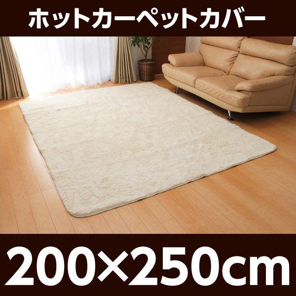 イケヒコ フィラメント素材 ホットカーペットカバー(フィリップ) 200×250cm アイボリー