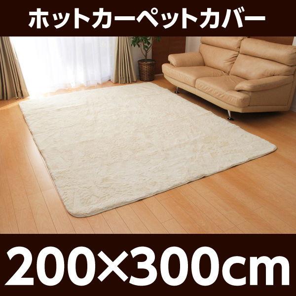 イケヒコ フィラメント素材 ホットカーペットカバー(フィリップ) 200×300cm アイボリー