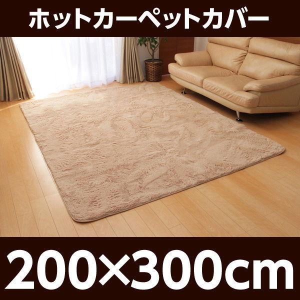 イケヒコ フィラメント素材 ホットカーペットカバー(フィリップ) 200×300cm ベージュ