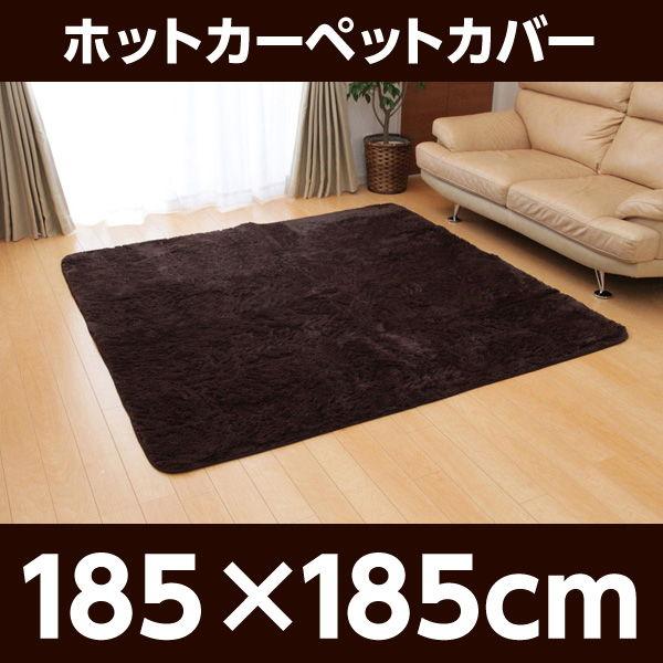 イケヒコ フィラメント素材 ホットカーペットカバー(フィリップ) 185×185cm ブラウン