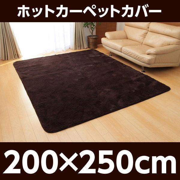 イケヒコ フィラメント素材 ホットカーペットカバー(フィリップ) 200×250cm ブラウン