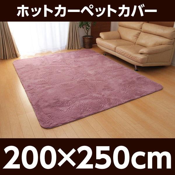 イケヒコ フィラメント素材 ホットカーペットカバー(フィリップ) 200×250cm あやめ