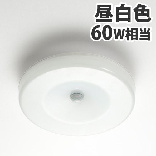 ルミナス 人感センサー付LED小型ライト 60W相当 昼白色 EG-MSL-60N