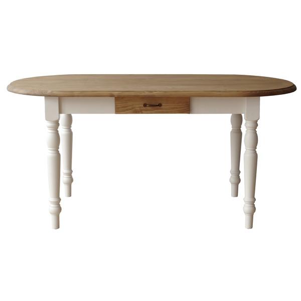 関家具 マグワート ダイニングテーブル W1500×D780×H700mm ホワイト/ナチュラル