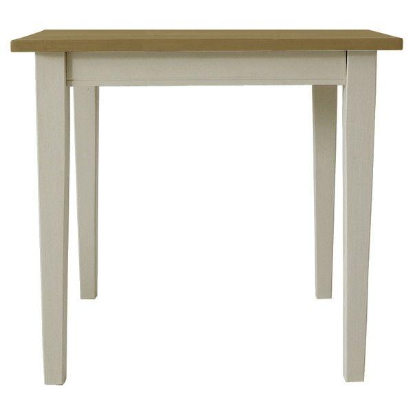 関家具 ダイニングテーブル クレソン ホワイト/ナチュラル W750×D750×H700mm