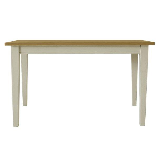関家具 ダイニングテーブル クレソン ホワイト/ナチュラル W1350×D750×H700mm