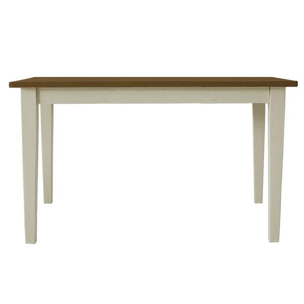 関家具 ダイニングテーブル クレソン ホワイト/カフェ W1350×D750×H700mm