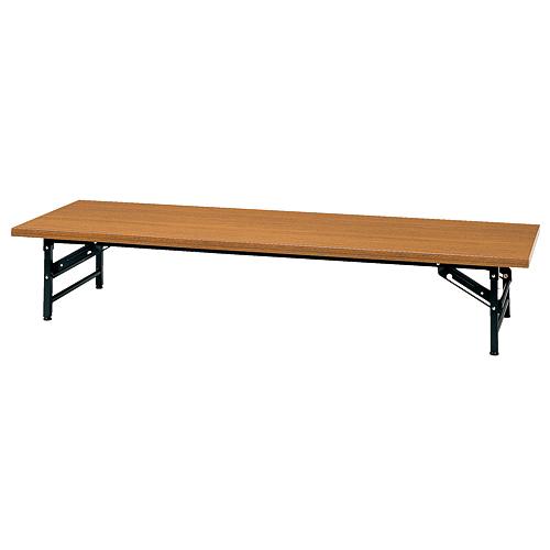 タック販売 会議テーブル600 ロータイプ D600 チーク KL1860NT