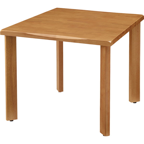 (個人宅+6600円) タック 天然木テーブル W900×D900×H700mm ナチュラル UFTRWT9090-NA+UFT4SL-NA