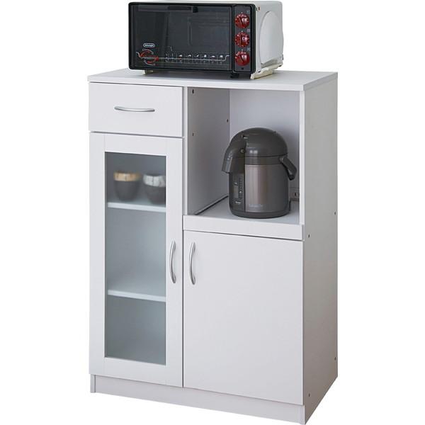 タック キッチンキャビネット ビアンコ W650×D395×H970mm ホワイト SK9765-WH