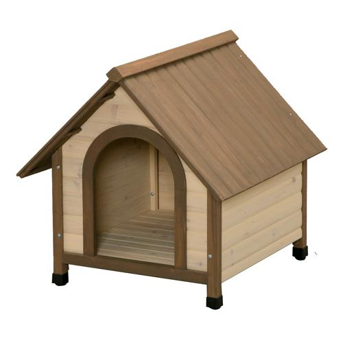 アイリスオーヤマ 犬舎 ウッディ犬舎 ブラウン WDK-750