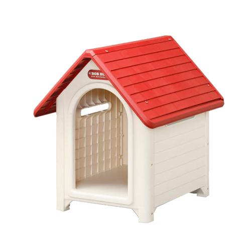 アイリスオーヤマ 犬舎 ボブハウス L レッド/オフホワイト