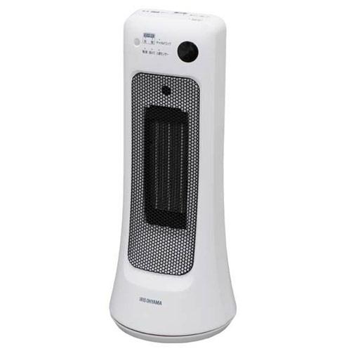 アイリスオーヤマ セラミックヒーター 首振り室温センサー ホワイト JCH-12ST