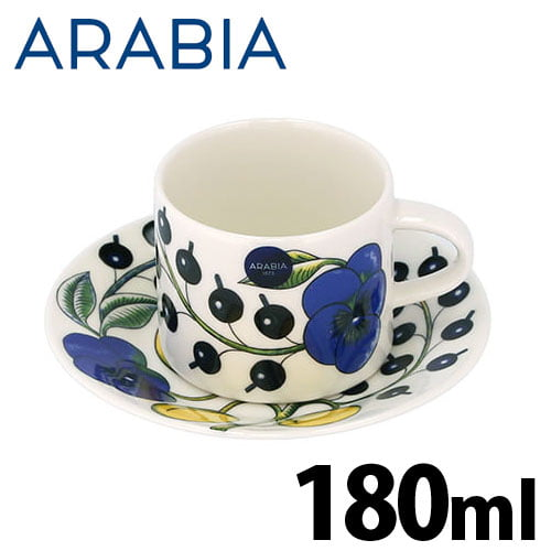 Arabia Paratiisi パラティッシ コーヒーカップ&ソーサー 180ml+14cm ブルー/イエロー