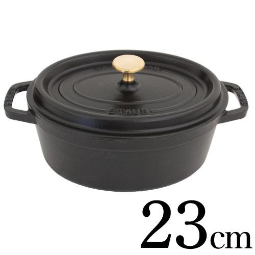 Staub 鋳物ホーロー鍋 ピコ・ココット オーバル 23cm ブラック