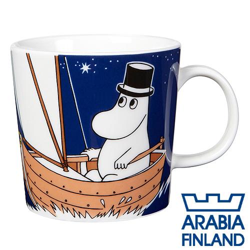 Arabia Moomin ムーミン マグカップ ムーミンパパ 300ml ディープブルー
