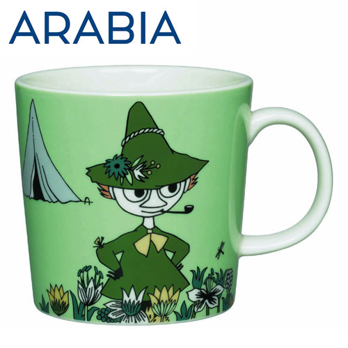 Arabia Moomin ムーミン マグカップ スナフキン 300ml グリーン