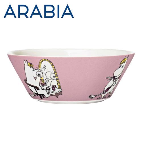 ARABIA アラビア Moomin ムーミン ボウル フローレン ピンク 15cm Snorkmaiden Pink