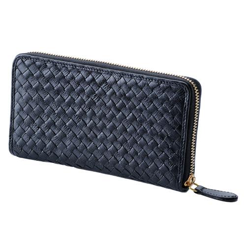 【売切れ御免】della deccair ラウンドファスナー 長財布 ブラック DEC30104-001