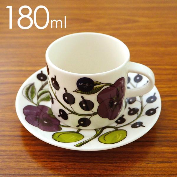 ARABIA アラビア Paratiisi Purple パープル パラティッシ コーヒーカップ&ソーサー セット 180ml