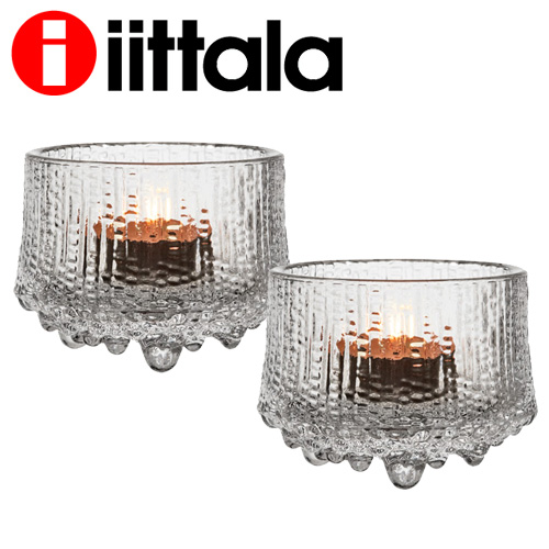 iittala イッタラ ウルティマツーレ Ultima Thule キャンドルホルダー クリア 2個セット