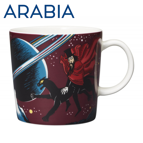 ARABIA アラビア Moomin ムーミン マグ 飛行おに 300ml Hobgoblin purple マグカップ