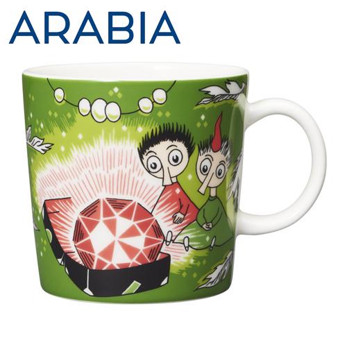 ARABIA アラビア Moomin ムーミン マグ トフスランとビフスランとルビーの王様 グリーン 300ml Thingumy and Bob green マグカップ
