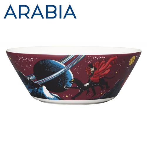 ARABIA アラビア Moomin ムーミン ボウル 飛行おに 15cm Hobgoblin purple