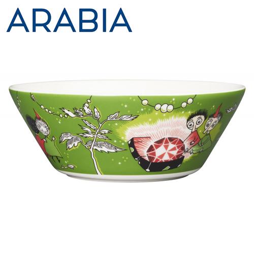ARABIA アラビア Moomin ムーミン ボウル トフスランとビフスランとルビーの王様 グリーン 15cm Thingumy and Bob green