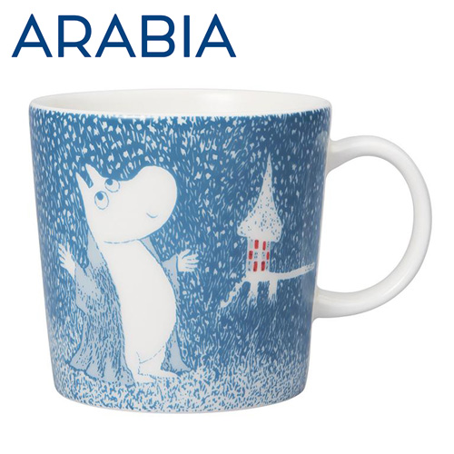 アラビア ムーミン マグ 淡雪 ライトスノーフォール Light Snowfall 300ml