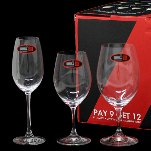 RIEDEL ワイングラス オヴァチュア バリューパック 赤ワイン/白ワイン/シャンパーニュ 12個セット 5408/93