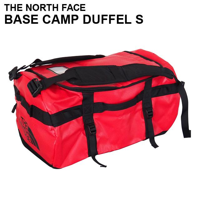 THE NORTH FACE バックパック BASE CAMP DUFFEL S ベースキャンプ ダッフル 50L レッド×ブラック ボストンバッグ ダッフルバッグ T93ETOKZ3