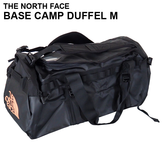 THE NORTH FACE バックパック BASE CAMP DUFFEL M ベースキャンプ ダッフル 71L ブラック×メタリックコッパー ボストンバッグ ダッフルバッグ