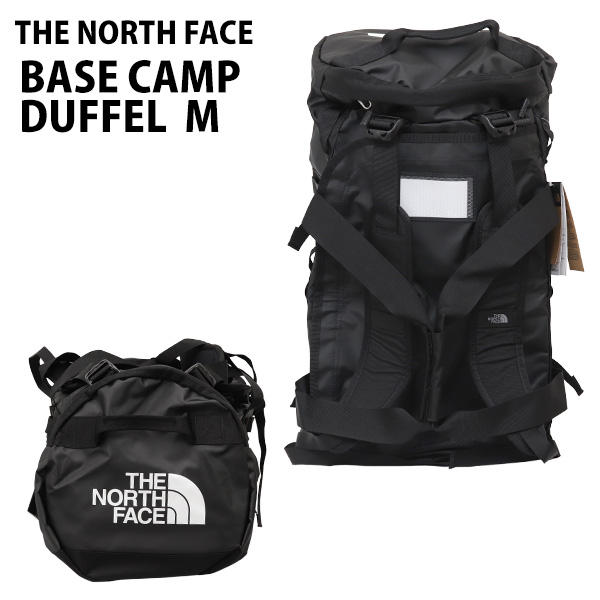 THE NORTH FACE バックパック BASE CAMP DUFFEL M ベースキャンプ ダッフル 71L ブラック ボストンバッグ ダッフルバッグ T93ETPJK3