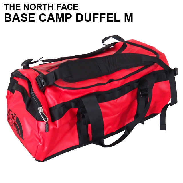 THE NORTH FACE バックパック BASE CAMP DUFFEL M ベースキャンプ ダッフル 71L レッド×ブラック ボストンバッグ ダッフルバッグ