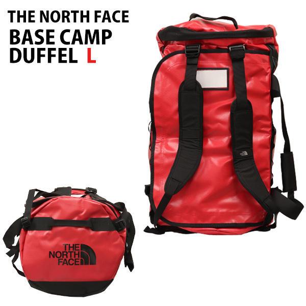 THE NORTH FACE バックパック BASE CAMP DUFFEL L ベースキャンプ ダッフル 95L レッド×ブラック ボストンバッグ ダッフルバッグ