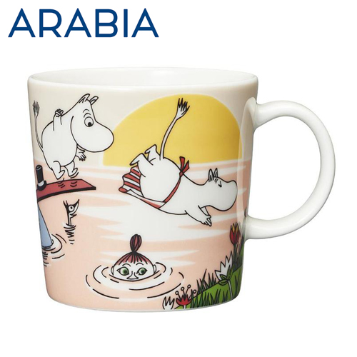 Arabia Moomin ムーミン マグカップ イブニングスウィム Evening swim 300ml 2019年夏季限定